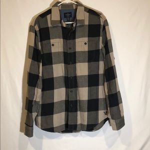 Men's Medium American Eagle Long-Sleeve Button-up